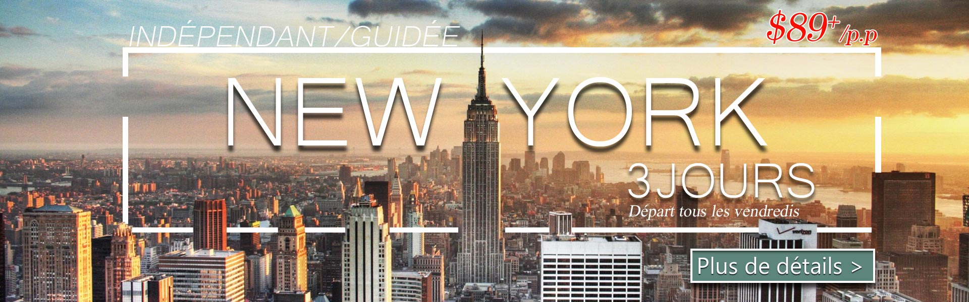 New York Guide 3 Jours YorkConcord Tours Travel